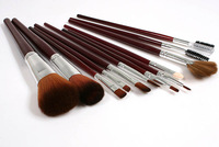 New 2014 Fashion MT_38 Professional Wholesales 12 PCS Cosmetics Makeup Brushes Set Newspapers Leather Bag, Brand Make Up Brushes
