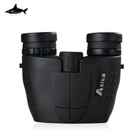 Free shipping! Shark Asika 10X25 HD Binocular Telescope BAK4 Green Film Waterproof,Fogproof