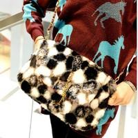 women handbag women leather handbags women messenger bags autumn and winter chain bags are fur bag fashion crossbody bag