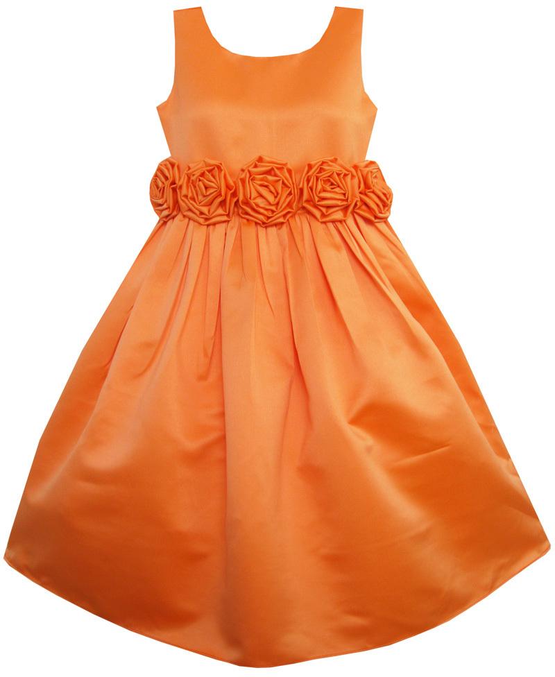 Orange girls dresses promotion online shopping for promotional orange