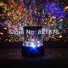 New Dreamlike Colorful Star Master Night Light Novelty Amazing LED Sky Star Master Light Projector Lamp Night Lamp No Battery(China (Mainland))