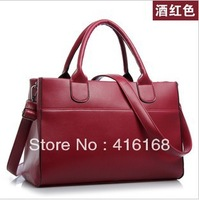2014 new women's handbag shoulder bag retro bag blue black elegant red wine