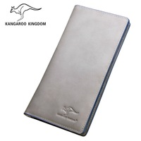 Kangaroo wallet male genuine leather long wallet design top of the first layer of cowhide fashionable casual