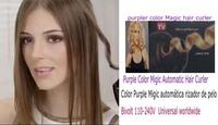TV by conair  Magic hair curler Nano Titanium Hair Curler Color Purple With Retail US/EU plug drop shipping