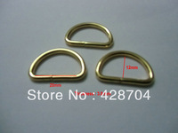 "100pcs 1""x3mm Gold Metal D Rings"