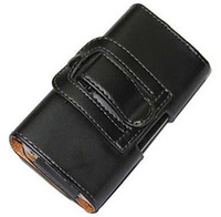 2014 New Smooth pattern PU Leather Phone Belt Clip for Alcatel One Touch Idol X Cell Phone Accessories Pouch Bags Cases