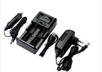 Brand Soshine H2 LCD Smart Universal Charger for 3.7V Li-ion/3.2V LiFePO4 26650 186501.2V NiMH C AA AAA AC Adapte Car Charger