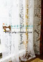 2014 new fashion Quality fashion classic flower flowers white elegant of curtain finished product window screening