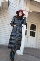 Free shipping fashion brand 2013 winter long down jackets coats manteau women fur collar woolrich raccoon camouflage parka