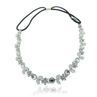 2 pieces/lot fashion classics leaf elastic crystal hair band headpieces chain  Korean headbands for girls wedding hair jewelry