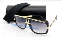 Free shipping  famous cazal 625 brand oculos de sol women men designer  oversize frame luxury sunglasses with box