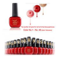 Kasi Top quality Shining, durable, nontoxic,encironmentally-friendly nail gel polish for nail art salon/home etc,15ml color 1-48