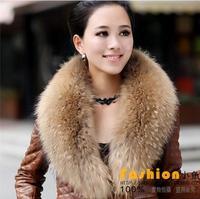 Fashion 100%  real raccoon fur collar scarf high quality 70cm length