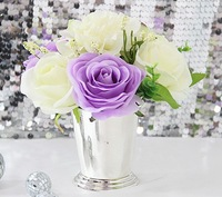 7067 small size free shipping, Silver plated metal mini vase,Wedding supplies,Wedding props,HOME Decoration