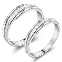 2014 classic Couple Rings 1 PCS Rhodium plated wedding rings for lovers (#CR1241)