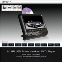 Detachable Panel CAR Mounted Headrest DVD Player,800*480 High Resolution,USB/SD and FM/IR Function