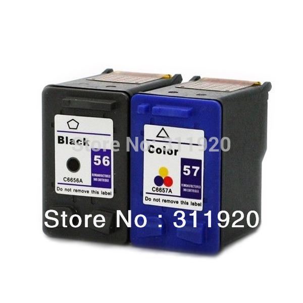 New 56 & 57 Inkjet Cartridges For HP 56 57 Cheap Ink Cartridges For HP Deskjet 450 450cbi 5150 5550 5650 5850w 9650 9670(China (Mainland))