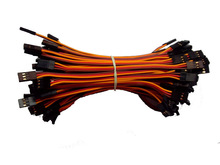 Free shipping 10pcs lot 150mm JR male to male connection cable extension servo cable for JR