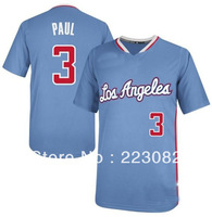 2014 NWT  #3 Chris Paul Jersey Blue New Chris Paul Shirt Stitched Best Quality Chris Paul Jerseys