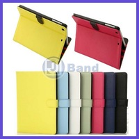 For iPad Mini 2 Fashion Protective Skin Shell Korea Style Solid Leather Stand Case