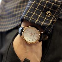 High Quality 2014 New Leather Strap Fashion Quartz Business Men's Watches Military Army Vogue Women Dress Watch ,Hot SaleML0492
