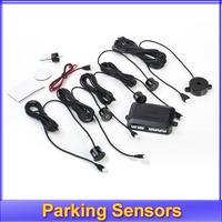 Register free shipping!! 12V Waterproof 4 Parking Sensors Car Reverse Backup Radar Sound Alert