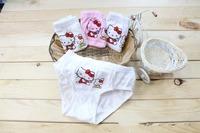 Retail 2014 New Arrival Children Panties Girls 100% Cotton Stretch Lycra Cotton Hello Kitty Briefs Kids Underwear Baby Panties
