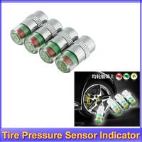 Free shipping!! 8 x car Tire Pressure Monitor Valve Stem Cap Sensor Indicator 3 Color Eye Alert