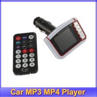 "Free shipping! 3pcs/lot New LCD Car MP3 MP4 1.8"" Player FM Transmitter SD/MMC"