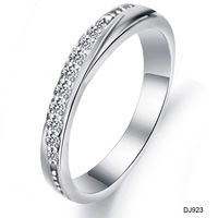 Opk accessories 2013 hot-selling elegant rhinestone silver ring qj923