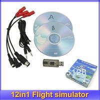 Free shipping!!RC 12in1 Flight simulator Cable for Aerofly Phoenix XTR G5/FUTABA adapter simulator