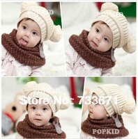 Free Shipping Hot Selling 2014 New Cute Baby Winter Knitted Warm Cap Boy Lovely Beanie Girls' Hats For Children xth164
