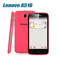 Original Lenovo A516 MT6572 4GB ROM Android 4.2.2 4.5 Inch IPS Capcitive touch screen Dual Core cellphone
