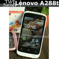 Cheapest lenovo smart phone A288t 3.5''480x320 pixels 3.2mg pixels 256MB RAM 512MB ROM black/white pink russian polish cestina