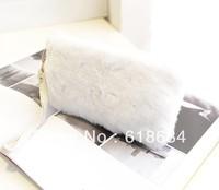Free shipping 120pcs/lot Winter Korean Version of The New Packet Evening Bag Plush Rabbit Fur Clutch Handbags Fashion Handbags