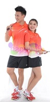 5set free ship original VS men Badminton Wears women badminton clothes 1 shirt + 1 shorts badminton jersey badminton sportswear