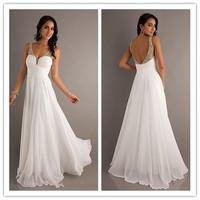 J0197 Latest Design Two-Shoulder White Chiffon Ruffles Long Length Waistband Sleeveless  Wedding Party Bridesmaid Dress 2014