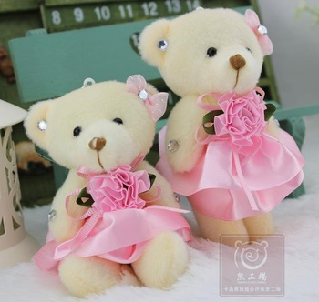 Valentine Teddy Bear Plush,Bear with Small Pink Color Flower,Cute ...