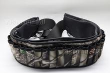 Shotgun Shell Belt 27 Round Neoprene Camo Shotshell Belt Hunting Free Shipping(China (Mainland))