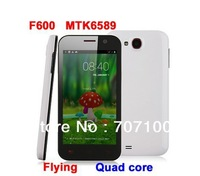"Hot cheap! new  MTK6589 Android phone Flying F600 Quad core 1GB RAM Android 4.1 8MP Camera 4.7"" 3G Smartphone"
