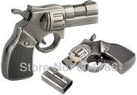 Tonpha 5 Pieces High Quality  4GB 8GB 16 GB Metal Gun shape USB Flash drive Memory Stick  Free Shipping