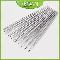 12 pcs/set Nail Art Paint Brush Set Nail Paint Brush Free shipping