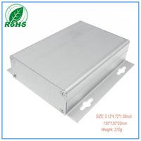 Low price+Free shipping Aluminum Die Casting Enclosure  130*120*35mm 5.12*4.72*1.38inch aluminum box