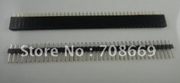Free Shipping 200pcs 1x40 Pin 2.54mm Single Row Female & Male Pin Header connector