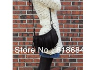 Free shipping 70pcs/lot New Handbag Fashion Tassel Small Messenger Bag Big Buckles Fashion Handbags Casual Fringed Shoulder Bag