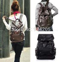 Vintage Girls PU leather Backpack Bookbags Satchel Rucksack Travel Shoulders Bag