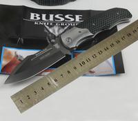 Top Qualiy BUSSE Intruder Pocket Knife Group D2 Steel G10 Handle 60-62HRC Folding knife Best Gift Knife