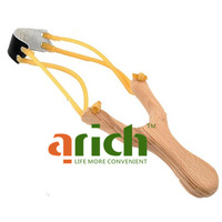 Cool Wooden Slingshot Wood Catapult Launcher with Stainless Steel Balls