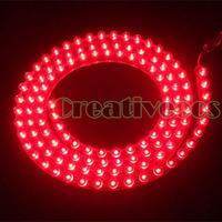 """Red 120CM 47.2"""" 120LEDs PVC 12V Car Truck Waterproof Flexible LED Neon Strip Light DRL Driving Fog Light"""