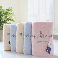 74CM * 33CM  high quality 100% cotton rose flowers towels for baby/adults children gifts bath towels free shipping 2pcs/lot